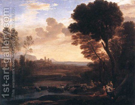 Landscape with Paris and Oenone 1648 by Claude Lorrain (Gellee) - Reproduction Oil Painting