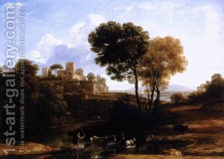 Landscape with Shepherds 1645-46 by Claude Lorrain (Gellee) - Reproduction Oil Painting