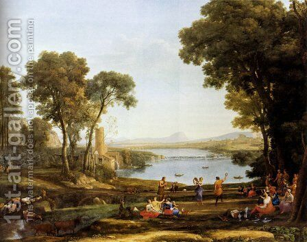 Landscape With The Marriage Of Isaac And Rebekah by Claude Lorrain (Gellee) - Reproduction Oil Painting