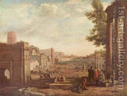 The Campo Vaccino, Rome by Claude Lorrain (Gellee) - Reproduction Oil Painting