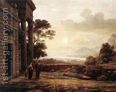 The Expulsion of Hagar 1668 by Claude Lorrain (Gellee) - Reproduction Oil Painting