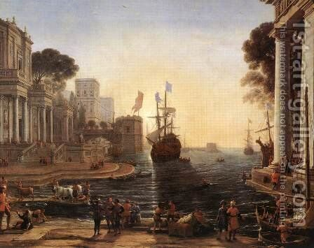 Ulysses Returns Chryseis to her Father 1648 by Claude Lorrain (Gellee) - Reproduction Oil Painting