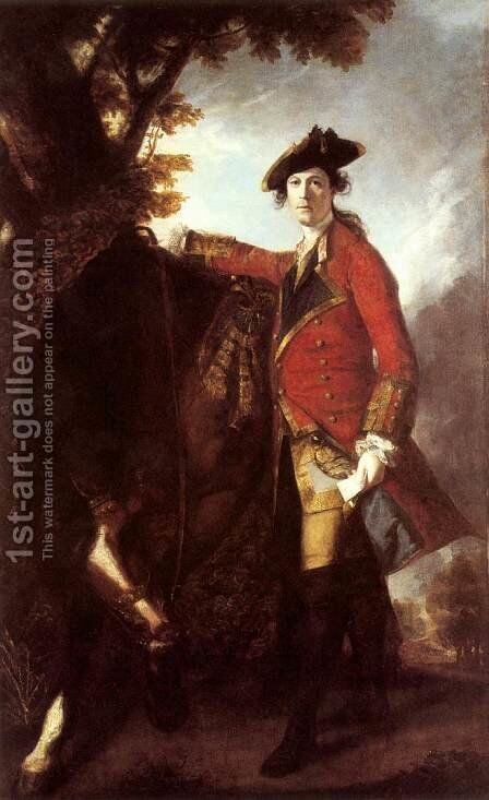 Captain Robert Orme 1756 by Sir Joshua Reynolds - Reproduction Oil Painting