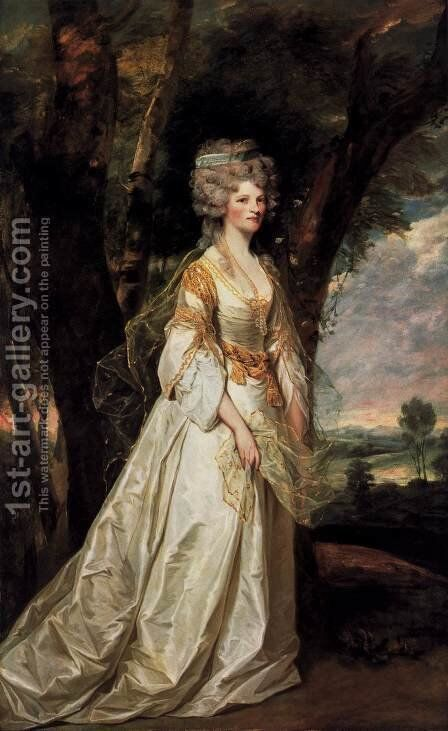 Lady Sunderlin 1786 by Sir Joshua Reynolds - Reproduction Oil Painting