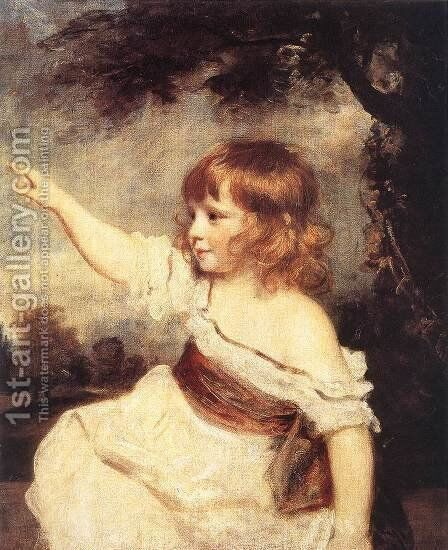Master Hare 1788-89 by Sir Joshua Reynolds - Reproduction Oil Painting