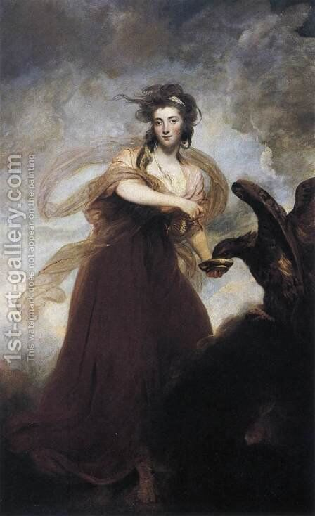 Mrs. Musters as Hebe 1785 by Sir Joshua Reynolds - Reproduction Oil Painting