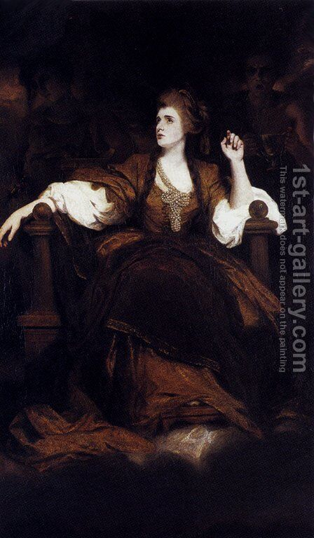 Portrait of Mrs. Siddons as the Tragic Muse  1784 by Sir Joshua Reynolds - Reproduction Oil Painting