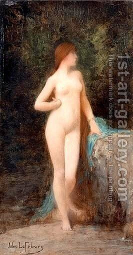 Chloe (study) by Jules Joseph Lefebvre - Reproduction Oil Painting