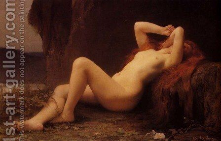 Mary Magdalene In The Cave by Jules Joseph Lefebvre - Reproduction Oil Painting