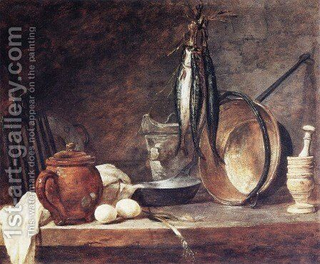 The Fast Day Meal by Jean-Baptiste-Simeon Chardin - Reproduction Oil Painting