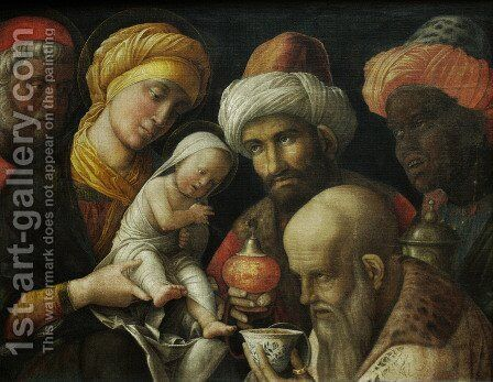 Adoration Of The Magi by Andrea Mantegna - Reproduction Oil Painting