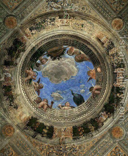 Ceiling Oculus by Andrea Mantegna - Reproduction Oil Painting
