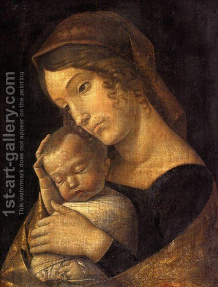Madonna With Sleeping Child by Andrea Mantegna - Reproduction Oil Painting