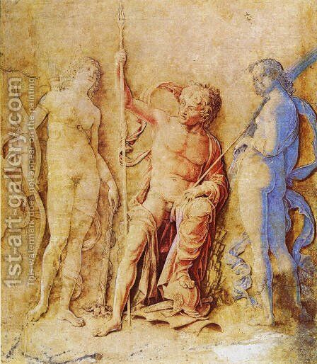 Mars  Venus  And Diana by Andrea Mantegna - Reproduction Oil Painting