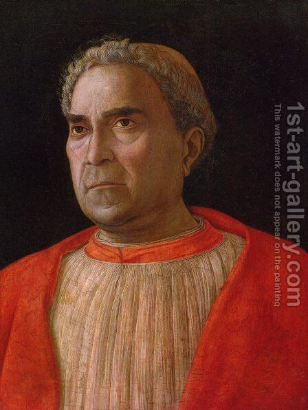 Portrait Of Cardinal Lodovico Trevisano by Andrea Mantegna - Reproduction Oil Painting