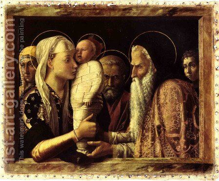 Presentation at the Temple c. 1460 by Andrea Mantegna - Reproduction Oil Painting