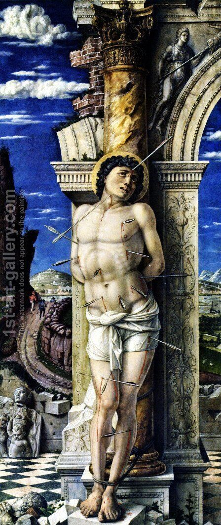 St Sebastian 1457-58 by Andrea Mantegna - Reproduction Oil Painting