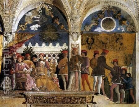 The Court of Mantua 1471-74 by Andrea Mantegna - Reproduction Oil Painting