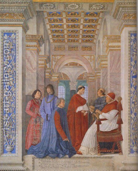 The Family Of Ludovico Gonzaga by Andrea Mantegna - Reproduction Oil Painting