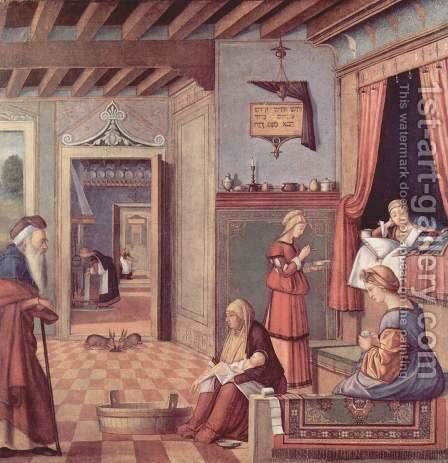 Birth of the Virgin 1504-08 by Vittore Carpaccio - Reproduction Oil Painting