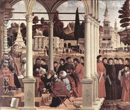 Disputation of St Stephen 1514 by Vittore Carpaccio - Reproduction Oil Painting