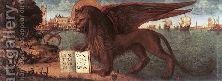 The Lion of St Mark 1516 by Vittore Carpaccio - Reproduction Oil Painting