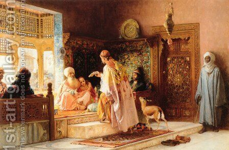 The Messenger by Frederick Arthur Bridgman - Reproduction Oil Painting