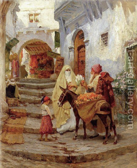 The Orange Seller by Frederick Arthur Bridgman - Reproduction Oil Painting