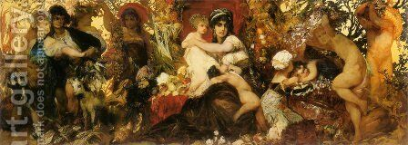 Abundantia   The Gifts Of The Earth by Hans Makart - Reproduction Oil Painting