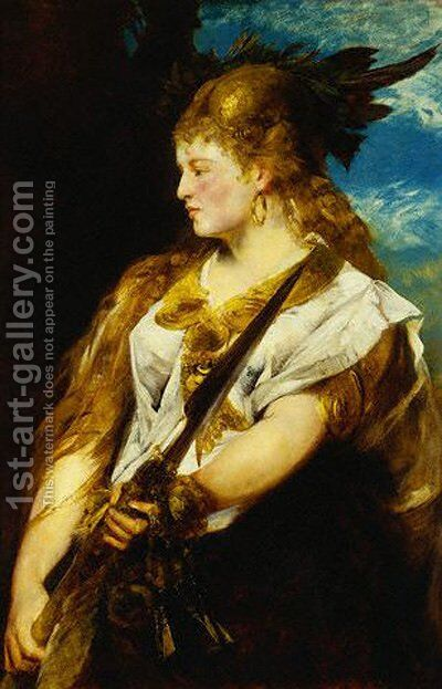 Helene Racowitza As Walkure by Hans Makart - Reproduction Oil Painting