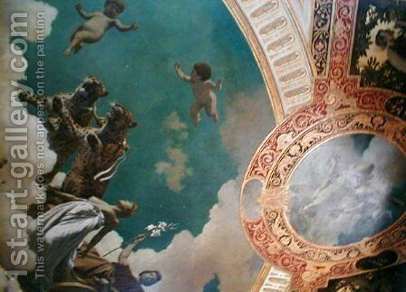 Hermesvilla Ceiling Paintings by Hans Makart - Reproduction Oil Painting