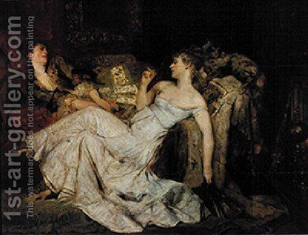 Marmorherzen by Hans Makart - Reproduction Oil Painting