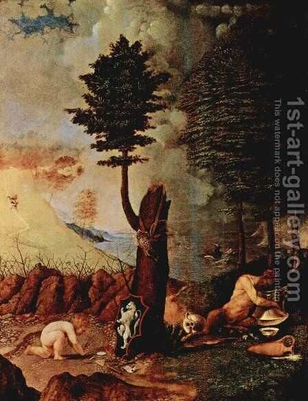 Allegory 1505 by Lorenzo Lotto - Reproduction Oil Painting