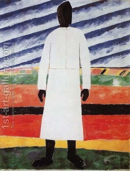 A Peasant Woman by Kazimir Severinovich Malevich - Reproduction Oil Painting