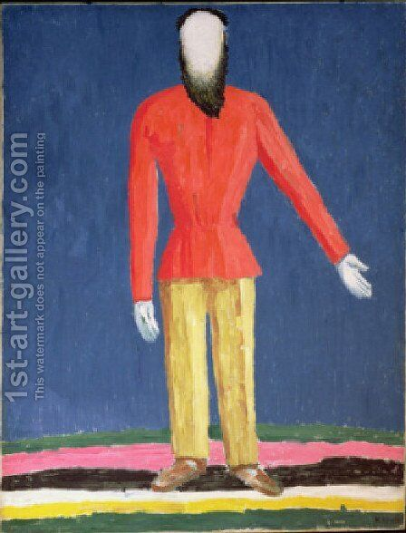 Peasant by Kazimir Severinovich Malevich - Reproduction Oil Painting
