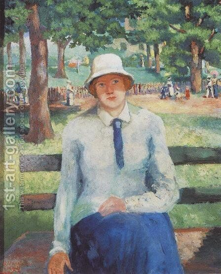 Unemployed Girl by Kazimir Severinovich Malevich - Reproduction Oil Painting