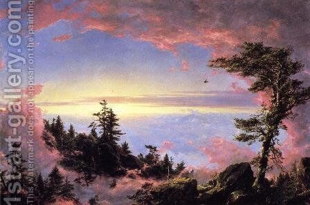 Above The Clouds At Sunrise by Frederic Edwin Church - Reproduction Oil Painting