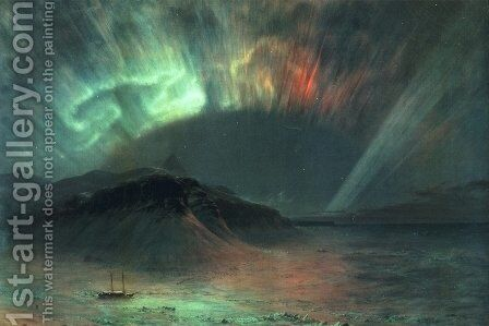 Aurora Borealis by Frederic Edwin Church - Reproduction Oil Painting