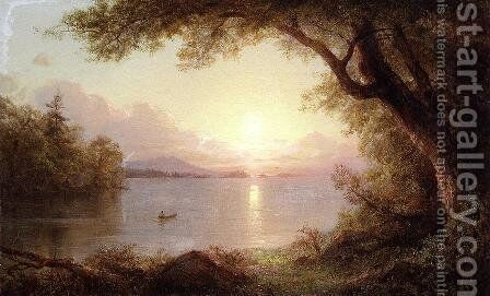 Landscape In The Adirondacks by Frederic Edwin Church - Reproduction Oil Painting