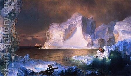 The Icebergs by Frederic Edwin Church - Reproduction Oil Painting