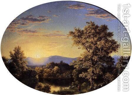 Twilight Among The Mountains by Frederic Edwin Church - Reproduction Oil Painting