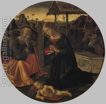 Adoration Of The Child by Domenico Ghirlandaio - Reproduction Oil Painting