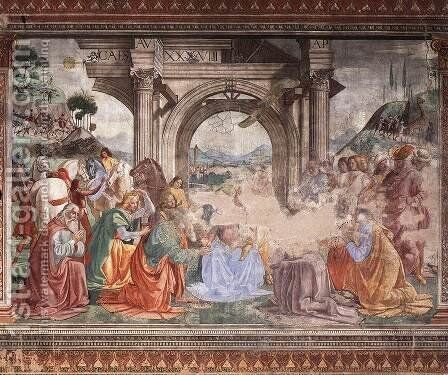 Adoration Of The Magi by Domenico Ghirlandaio - Reproduction Oil Painting