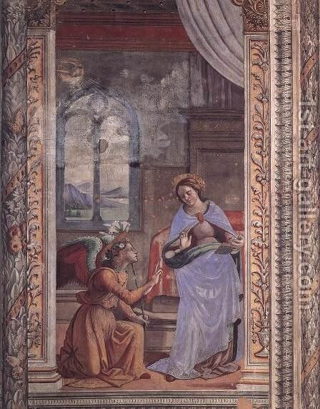 Annunciation2 by Domenico Ghirlandaio - Reproduction Oil Painting