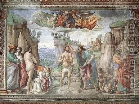 Birth Of St John The Baptist by Domenico Ghirlandaio - Reproduction Oil Painting