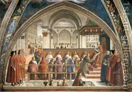 Confirmation of the Rule 1482-85 by Domenico Ghirlandaio - Reproduction Oil Painting