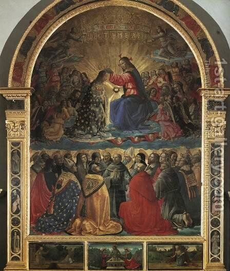 Coronation of the Virgin 1486 2 by Domenico Ghirlandaio - Reproduction Oil Painting