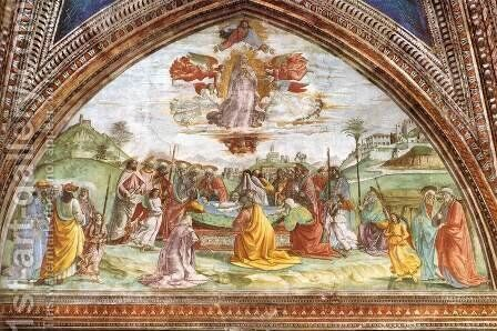 Death And Assumption Of The Virgin by Domenico Ghirlandaio - Reproduction Oil Painting