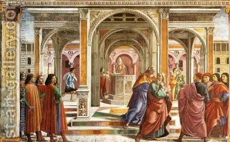 Expulsion Of Joachim From The Temple by Domenico Ghirlandaio - Reproduction Oil Painting