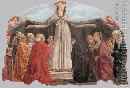 Madonna of Mercy c. 1472 by Domenico Ghirlandaio - Reproduction Oil Painting